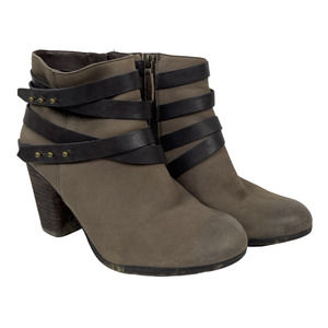 BP Train Wrap Belted Ankle Bootie Western Brown
